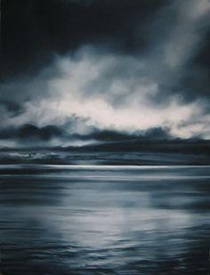 "Zaria Forman; ""Greenland #7"". Soft pastel on paper, 66""x50, 2006"