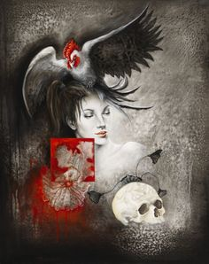 Rouge, Pair et Gagne by Yo COQUELIN Red And Grey, Black And White, White Art, Modern Art, Anime, Painting, Type 3, Skeleton, Theater
