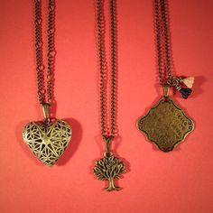 Colares Bronze   #necklace #three #vintage #acessorios  www.lacosdefilo.com