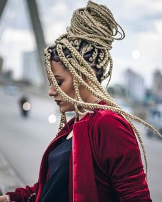 Mohawk Dreads, Blonde Dreadlocks, Locs, Afro Braids, African Braids, Black Girls Hairstyles, Braided Hairstyles, Braid Accessories, Natural Hair Styles