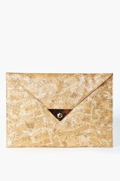 Metallic Cork Clutch
