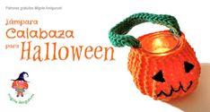 Woven lamp pumpkin for Halloween amigurumi, free pattern