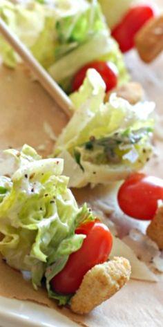 Caesar Salad on a Stick