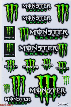 Green Monster Energy Claws Sticker Decal Supercross by RaciRaci, $6.50