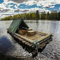 Awesome setup if you are going camping in river. @outdoorbackpacker