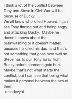 I really think this will be a contributing factor. I honestly think that Tony will go after Bucky even if he does know that he's been brainwashed for basically 70 years. It's his father, whether or not he liked him that much.