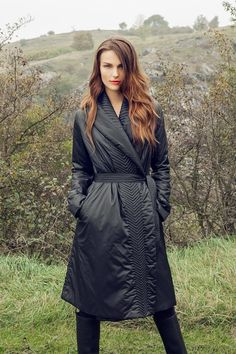 IMRECZEOVA FW14 black down coat