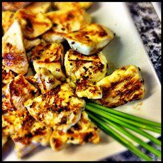 Pechuga de pollo con miel y mostaza.