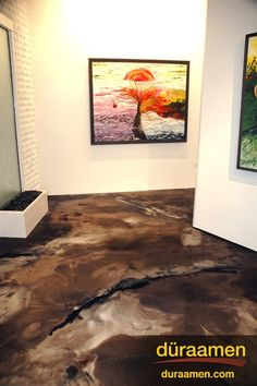 Around every corner is a work of art, and metallic epoxy flooring.
