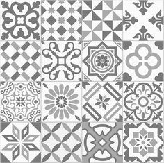 Carrelage imitation ciment gris taupe et blanc mix cm ANTIGUA GRIS - Floor Patterns, Tile Patterns, Textures Patterns, Stencils, Stencil Decor, Italian Pattern, Stenciled Floor, Geometric Tiles, Tiles Texture