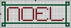 Free Cross Stitch Pattern - Noel - Christmas Cross Stitch Pattern: Free Cross Stitch Pattern - Noel Color Symbol Pattern
