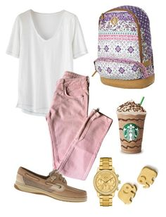 """"""";)"""" by shania-14 ❤ liked on Polyvore featuring Wrap, Sandro, Sperry, Volcom, Lacoste and Dogeared"""