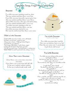 Mrs Home Ec: Snowman Preschool Lesson....very cute