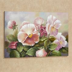 Touch of Class Plenty of Pansies Floral Canvas Art