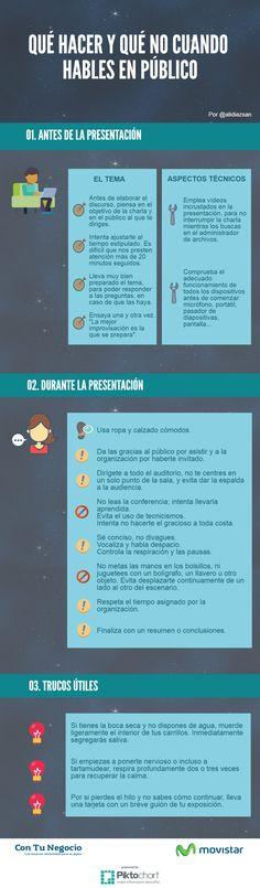 Qué hacer y qué no cuando hables en público #infografía