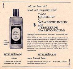 Stilbépan voor levend haar - advertentie uit 1958 - Dagra - ontwerp Wim Crouwel