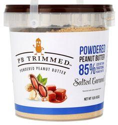 PB Trimmed Powdered Peanut Butter (Salted Caramel, 16 Oz)