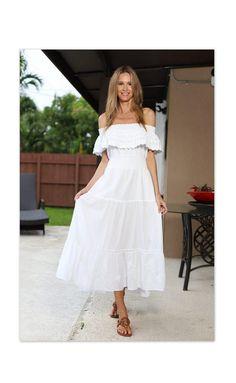 NATTY Organic Gauze Cotton V Neck Sides Pockets Long Boho Jumpsuit OS