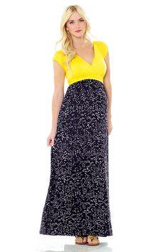 JILL DRESS - YELLOW/BLACK DOT #springfashion #maternity #lilacclothing #dress #maxi #nursing #yellow #black #polkadot #dot