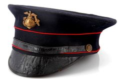 USMC enlisted hat early 1920s. Military Cap, Military Service, Military Life, Military Uniforms, Once A Marine, My Marine, Us Marine Corps, Usmc, Marines