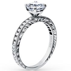 Kirk Kara Charlotte Channel Set Engagement Ring in 18kt White Gold · SS6766-R2 · Ben Garelick Jewelers