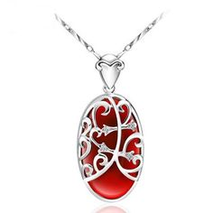 Achieve 925 pure silver-colored necklace formerly refined cheongsam condole drops silver of wind of female classic nation is acted the role of article, $91.26