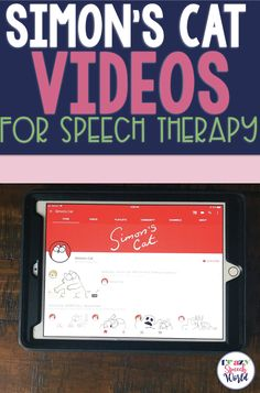 Using Simon's Cat (wordless video shorts) in speech therapy