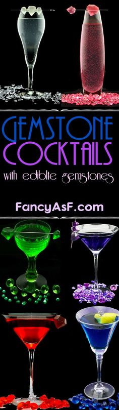 A series of cocktails inspired by your favorite gemstones.
