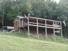 Our cabin overlooking Cordell Hull Lake