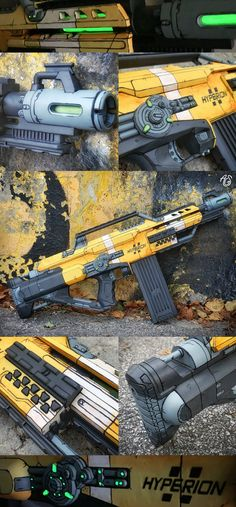 Toy Nerf Guns, Paintball Guns, Modified Nerf Guns, Nerf Mod, Survival Life Hacks, Concept Weapons, Cool Masks, Military Weapons, Borderlands