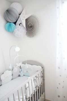 Pour un baby boy Baby Room Design, Nursery Neutral, White Nursery, Baby Boy Rooms, Baby Boy Nurseries, Baby Cribs, Baby Bedroom, Nursery Room, Nursery Decor