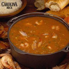 Authentic Cajun Seafood Gumbo using gluten-free Carolina White Rice.