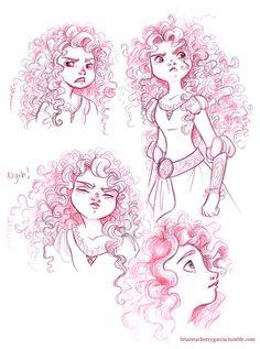 Super cute Merida sketches from briannacherrygarcia.tumblr.com