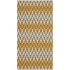 Safavieh Hampton Collection HAM518AC Area Rug, 4-Feet by 6-Feet, Camel and Brown