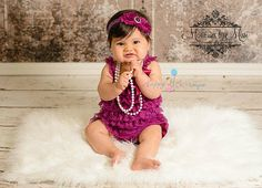 Raspberry Plum Lace Petti Romper rompers baby by HappyBOWtique