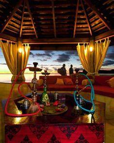 Early evening at a beachside shisha bar in Istanbul...