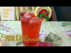 Prato Pra Um - Como Fazer Pink Lemonade