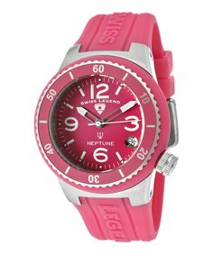 Take a look at this Pink Neptune Watch - Women on zulily today!