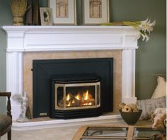 Like the mantle style. Maybe in a natural wood color? though white might actually be good for the basement...