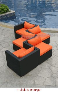 using modular pieces to do two-way seating