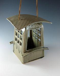 Ceramic Bird Feeder by amparo