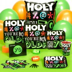 70th birthday party decoration ideas | 70th Birthday Party Games http://www.thepartyworks.com/holy-bleep-70th ...