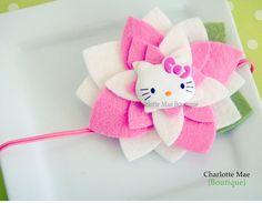 Hello Kitty headband, handmade @http://www.etsy.com/listing/80326176/lily-felt-flower-headband-hello-kitty-in?ref=cat1_gallery_