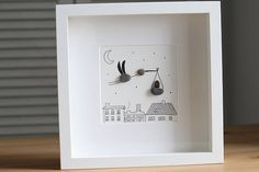 Delivery Stork Pebble Art Delivery stork new born baby
