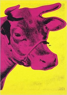 Andy Warhol: Cow always had a love for his pop art! Andy Warhol Pop Art, Jasper Johns, Arte Pop, Art Marilyn Monroe, Arte Tribal, Robert Rauschenberg, Cow Art, Art Moderne, Cultura Pop