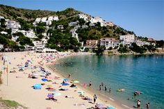 Playa de Canyelles Petites à Rosas, Costa Brava - Catalogne (Espagne)