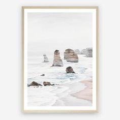 Great Ocean Road I Wall Art Print Twelve Apostles Beach Art – The Print Emporium Framed Art Prints, Poster Prints, Canvas Prints, Beach Themed Art, Timber Mouldings, Ocean Scenes, Fine Art Paper, Canvas Frame, A Table