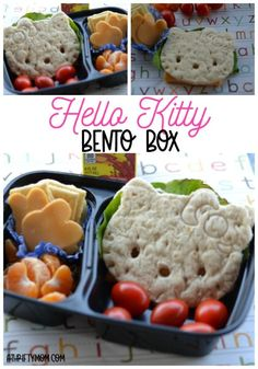 Hello Kitty bento box lunch Healthy Lunches For Kids, Toddler Lunches, Kids Meals, Easy Dinner Recipes, Lunch Recipes, Breakfast Recipes, Frugal Meals, Easy Meals, Baking Recipes For Kids
