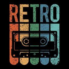 Retro Cassette Tape (Grunge Effect) Black Poster. Retro Vintage, Retro Art, Black Poster, Diy Poster, Poster Ideas, Retro Kunst, Art Grunge, Retro Aesthetic, Retro Design
