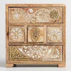 Give your desktop or entryway clutter a gorgeous place to call home in the five little drawers of our mango wood chest. Furniture Projects, Furniture Makeover, Furniture Decor, Painted Furniture, Bedroom Furniture, Cheap Furniture, Mango Wood Furniture, Furniture Removal, Furniture Online